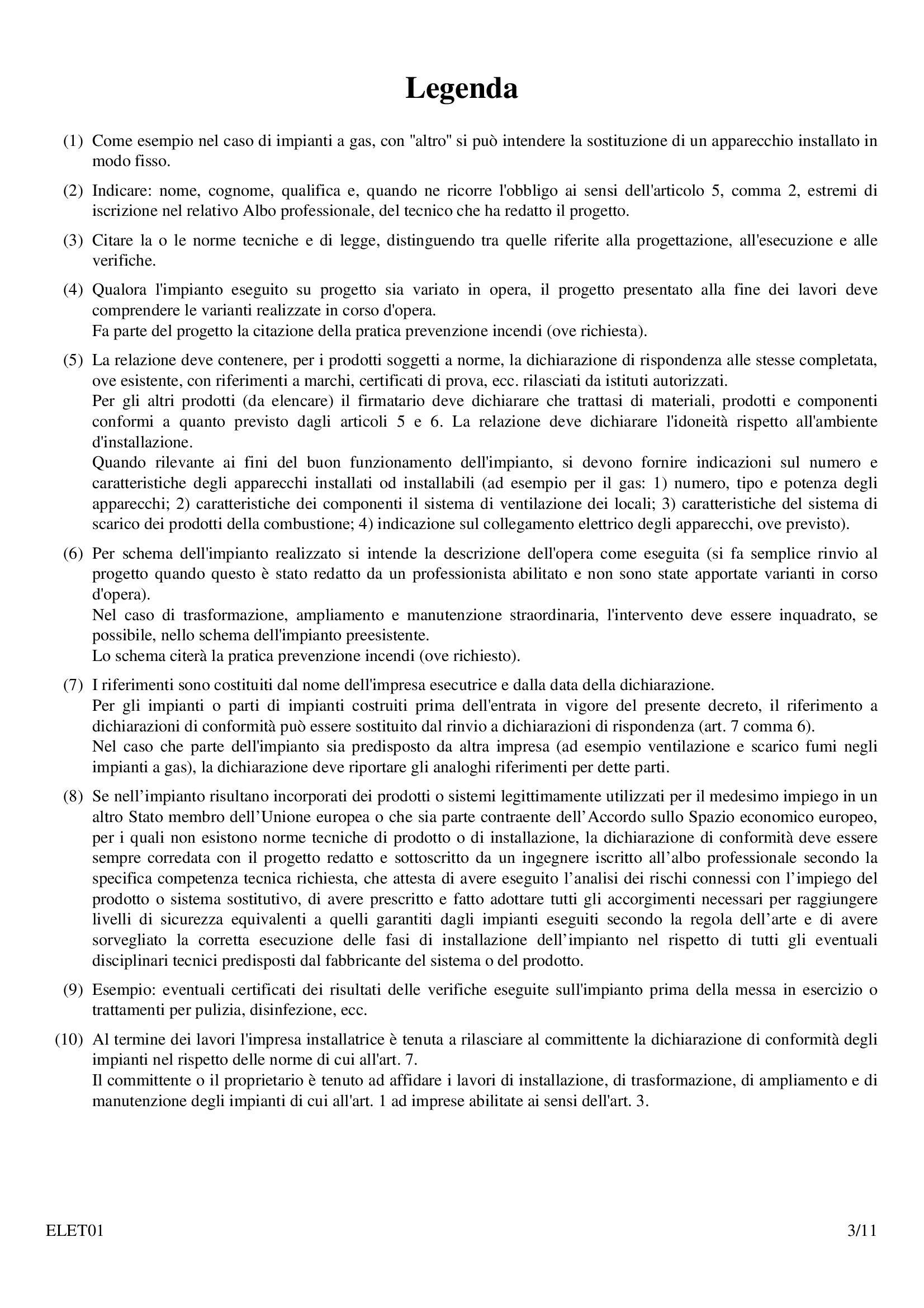 Certificato Di Rispondenza Impianto Elettrico. Di Conformit Roma ...
